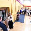 JIM VAIKNORAS/Staff photo Jacalyn Stuart Bennett cuts the ribbon, opening  the Jacalyn Stuart Bennett Mindfulness & Wellness Space at the Nock Middle School Friday.
