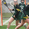 BRYAN EATON/Staff Photo. Pentucket mid-fielder Greta Maurer looks for an open teammate.
