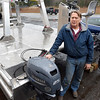 BRYAN EATON/Staff Photo. Local scientist Cliff Goudey collaborated with Wilson Welding in Salisbury to work on a seaweed harvesting boat for the Department of Energy.