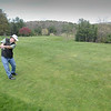 BRYAN EATON/Staff photo. Tom Tanzella of Amesbury warms up at the Amesbury Country Club as Governor Baker has allowed the courses to open.