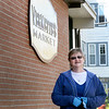 BRYAN EATON/Staff photo. Christine Varmette is head cashier at Vermette's Market in Amesbury where she has worked for 10 years.
