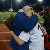 Worcester: Newburyport's Amy Sullivan hugs her dad Mike Sullivan after their game at Foley Stadium in Worcester,The Clipper's won the game 1-0, giving them the Division 3 State Championship. Jim Vaiknoras/staff photo