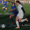 Worcester: Newburyport's Liza Twomey out races Granby's Caroline Cyr during their game at Foley Stadium in Worcester. The Clipper's won the game 1-0, giving them the Division 3 State Championship. Jim Vaiknoras/staff photo