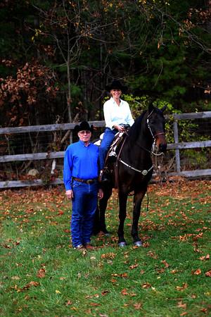 JIM VAIKNORAS/Staff photo Nady Rampeleergh-Peters on Nero with Chuck Patti at Chuck Patti Training Center in Merrimac.