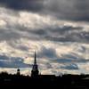 JIM VAIKNORAS/Staff photo Clouds gather over Newburyport's skyline late Friday afternoon.