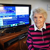 BRYAN EATON/Staff photo. Newbury Village resident Betty White is upset her cable went up $26 and she also doesn't get a $10/month discount to senior citizens as in other communities.