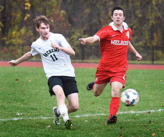 BRYAN EATON/Staff photo. Sachem's Patrick Dillon in action with Melrose.