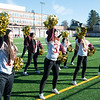 JIM VAIKNORAS/Staff photo Newburyport's cheerleaders celebrate a Clippers touch down at the Newburyport/Amesbury Thanksgiving football game at World War Memorial Stadium in Newburyport Thursday.