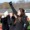 BRYAN EATON/Staff photo. Pentucket High School cheerleaders perform in the Thanksgiving Day football game at Triton High School.