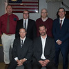 JIM VAIKNORAS/Staff photo Newburyport Wall of Fame inductees :back left Ron Simmons, Gary Twombly, Kevin Doyle,Jed Beauparlant, front from left. Jim Roney and Kevin Lamoureux.