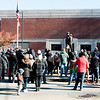 JIM VAIKNORAS/Staff photo People gather at Amesbury Middle School during the annual Veterans Day service Saturday.