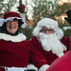 JIM VAIKNORAS/Staff photo Santa and Mrs. Claus make their way up the Water Street the annual Santa Parade and Tree Lighting in Market Square in Newburyport Sunday.