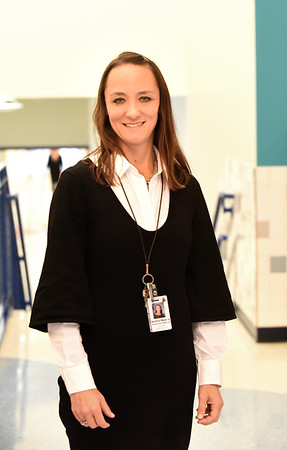 BRYAN EATON/Staff photo. Bresnahan School assistant principal Karina Mascia is a native of Brazil.