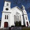 BRYAN EATON/Staff photo. Newburyport's Belleville Congregational Church on High Street was built in the 1870's.