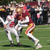 JIM VAIKNORAS/Staff photo JIM VAIKNORAS/Staff photo Newburyport's Jared Picciano hauls in a pass at the Newburyport/Amesbury Thanksgiving football game at World War Memorial Stadium in Newburyport Thursday.