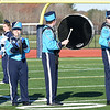 BRYAN EATON/Staff photo. The percussion section of the Triton High School Marching Band performs at the Thanksgiving Day football game with Pentucket.