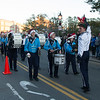 JIM VAIKNORAS/Staff photo The Triton High School Band  makes it's way up Water Street during the annual Santa Parade and Tree Lighting in Market Square in Newburyport Sunday.