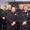 DAVE ROGERS/Staff photo. Most of the Newburyport Police Department's bearded officers posed for a group shot Wednesday morning inside the Green Street station.