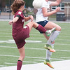 JIM VAIKNORAS/Staff photo  Newburyport's Margorate Cote clears the ball against Lynnfield  Monday. The Clippers defeated Lynnfield in Lynnfield 1-0 in overtime.