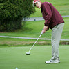 Haverhill: Newburyport's Ben Ventura putts on the fourth hole at Haverhill Country Club. Bryan Eaton/Staff Photo