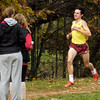 BRYAN EATON/Staff photo. Jack Carleo is the first runner for Newburyport to cross the finish.
