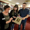 JIM VAIKNORAS/Staff photo  Director of the Archive Center at the Newburyport Library Sharon Spieldenner holds a photograph of Artic Explorer and Newburyport native son Adolphus Washington Greely, the item was donated by Jeanette Nolan and Jon Warner of the Leeward Light Thrift Shop in Salisbury. The photo was found among some donated items at the store.