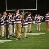 JIM VAIKNORAS/staff photo The Newburyport high school band performs on the field at half-time of the Clipper's game against Pentucket at World War Memoriral Stadium in Newburyport.