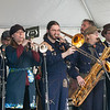 JIM VAIKNORAS/Staff photo Emperor Norton's Stationary Marching Band performs at the American Music & Harvest Festival at the Spencer-Peirce-Little Farm in Newbury on Saturday.The event which featured band throughout the day, benefited area education foundations.