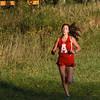 BRYAN EATON/Staff photo. First Amesbury runner to cross, Isabel Allain.