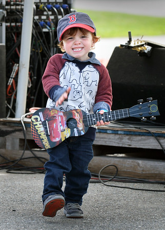 BRYAN EATON/Staff photo. Sawyer Scally, 2, of Newburyort gets into the groove at the we=nbpt music festival held at Newburyport Brewing on Saturday. The event featured local musicians and artists with some of the proceeds going to the Salvation Army.