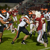 JIM VAIKNORAS/Staff photo Ipswich back Justin Moran turns the corner at Amesbury Friday night.