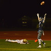 JIM VAIKNORAS/Staff photo Triton's Christian O'Brien celebrates a touch Down against Newburyport at Triton Friday night.