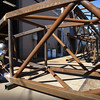 BRYAN EATON/Staff photo. Mark Cartrell works on frames which will anchor a kelp farm off Cape Cod.