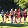 BRYAN EATON/Staff photo. Dave Bailey starts the girls race.