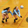 BRYAN EATON/Staff photo. Triton's Catherine Rooney, left, and Evelyn Pearson move into action.