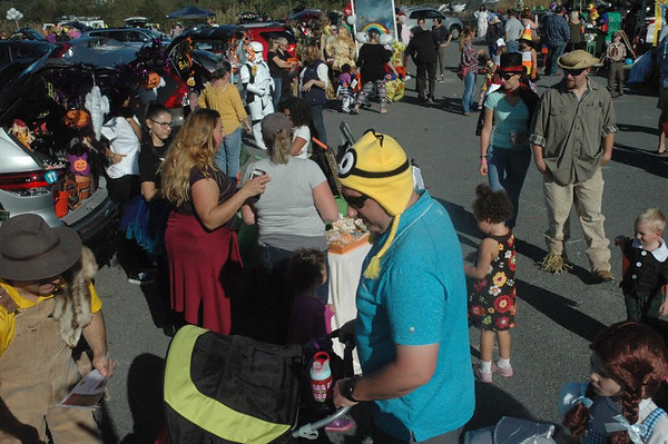 DAVE ROGERS/Staff photo An estimated 2,000 people attended the free Newburyport Trunk or Treat event Saturday afternoon inside the New England Sports Park in Amesbury.