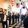 BRYAN EATON/Staff photo. U.S. Customs officials held a meeting at the Custom House Maritime Museum in a nod to the beginnings of the agency which is now with the Department of Homeland Security. Executive Director of the museum Michael Mroz gave a tour of the facility , built in 1835, after their meeting.