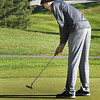 BRYAN EATON/Staff photo. Swampscott's Max Pegnato putts uphill.
