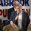 BRYAN EATON/Staff photo. Former New Hampshire Governor John Sununu, who was also President George H. W. Bush's chief of staff, spoke at a Republican rally at Brown's Lobster Pound in Seabrook on  Wednesday night. The restaurant serves fish chowder to citizens who come to meet GOP candidates running for state government.