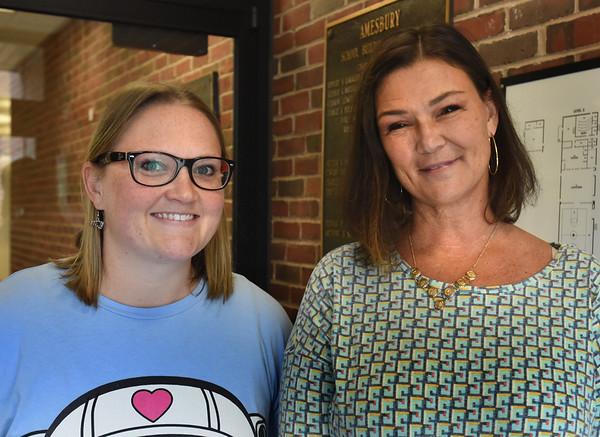 BRYAN EATON/Staff photo. <br /> Cashman Elementary School school adjustment counselor Megan Hoyt, left, and special education teacher Lauri McAllister.