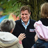 BRYAN EATON/Staff photo. Geoff Diehl, Republican candidate for U.S. Senate greets people in Newburyport's Market Square during the Fall Harvest Festival.