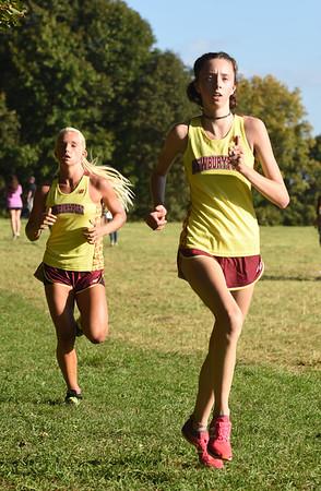 BRYAN EATON/Staff photo. Newburyport's Ellen Schulson, left, and Lindsey Roberts.