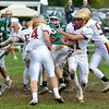 JIM VAIKNORAS/Staff photo  Newburyport's Charles Cahalane looks for yardage at Pentucket Saturday.