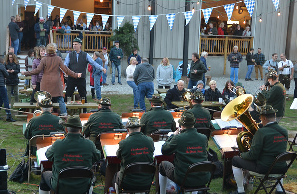 JIM VAIKNORAS/Staff photo The Oberlandaer Hofbrau Band perform at the 8th Annual Newburyport Oktoberfest benefiting the Masonic Angel Fund Saturday. The event featured large mugs of beer,  German food, games, dancing, and a music.