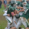 JIM VAIKNORAS/Staff photo Pentucket's Dylan O'Rourke runs the ball against Newburyport at Pentucket Saturday.