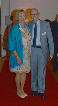 JIM VAIKNORAS/Staff photo  Patty and Peter Hoyt at Amesbury 350th Anniversary Gala at Coastal Connections Saturday night. The event was part of a year long city celebration and featured local catering, local beer and cider, and a performance by the Beantown Swing Orchestra .
