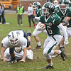 JIM VAIKNORAS/Staff photo Pentucket's Keegan O'Keefe on a kick return at home against Rockland Saturday.