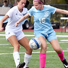 BRYAN EATON/Staff Photo. Hamilton-Wenham midfielder Jordan Story and Triton's Olivia Ritchie.