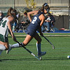 BRYAN EATON/Staff photo. Gianna Conte moves the ball into Pentucket field.