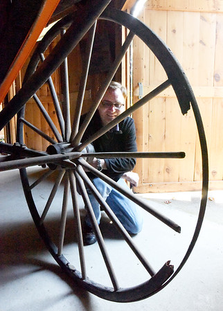 BRYAN EATON/Staff Photo. Though some of the spokes are damaged, they are the original ones created in 1855.